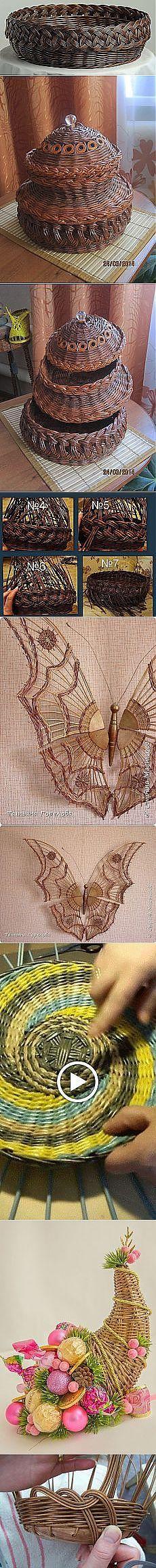 Плетение из газет   Идеи и фотоинструкции бесплатно на Постиле