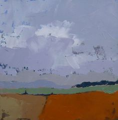 Abstract landscape oil painting Fading Summer by pamelam on Etsy, $50.00