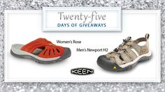 Its day 8 of our #25DaysofGiveaways!  Spend some time outdoors this summer in a pair of KEEN sandals. KEEN is committed to designing durable footwear with traction and toe protection that enables customers to play any place without a ceiling. Win pair here.