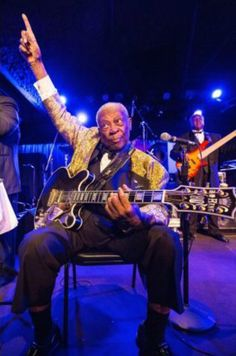 B.B. King looking UP to his maker.