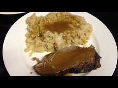 Medifast Lean & Green Pot Roast, Mashed Cauliflower, and Gravy