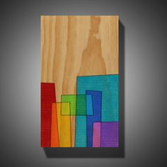 Original Abstract Art Wood Burned onto Pine Colored by MudHorseArt