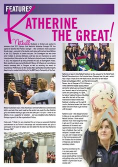 Netball magazine page from (I think) 2014