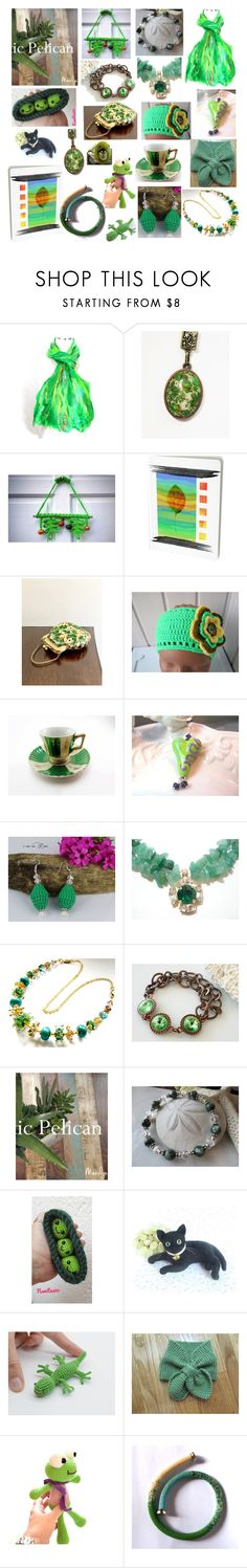 """""""Cool Greens"""" by belladonnasjoy ❤ liked on Polyvore featuring As Is, modern, rustic and vintage"""