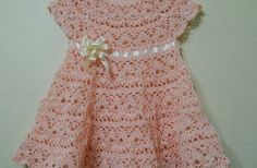 See the tutorial of this beautiful dress in crochet yarn in here in this store.