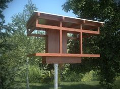 If It's Hip, It's Here: Beautiful Birdhouses and Bird Feeders For Modern Architecture Lovers.