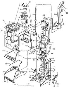 Hoover F5915-900 Parts List and Diagram