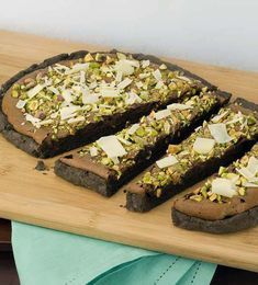 gf chocolate pistachio galette  (I'm into this for the chocolate crust-mmmm)