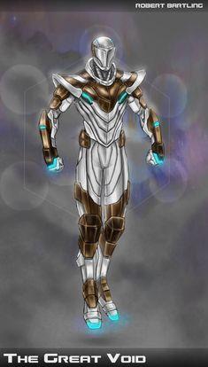 The Great Void by RobertDamnation on DeviantArt Fantasy Art Men, Anime Art Fantasy, Fantasy Armor, Robot Concept Art, Armor Concept, Character Concept, Character Art, Character Design, Superhero Characters