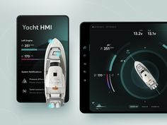 Yacht HMI Night Mode Concept by Kamil Kozieł for ITMAGINATION on Dribbble Ux Design, Mobile App, Tourism, Design Inspiration, Concept, Night, Ui Ux, Fields, Opportunity