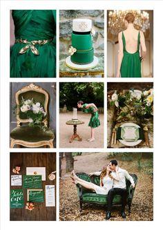 Inspiration mariage - Emeraude et Or - Lierre & Vous