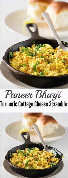 Paneer Bhurji   Scrambled Cottage Cheese or Paneer