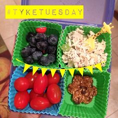 #tyketuesday  today we have: cherry tomatoes, ck salad, blueberries and a coconut cookie  what is your kids favorite snack??? #paleo #kidapproved #jerf #keepitpaleo #hashtagpaleo #schoollunch #primal #organic #glutenfree K