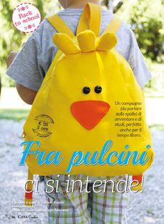 Zaino fai da te per scuola materna http://www.farecreare.it/astuccio-e-zainetto-fai-da-te/