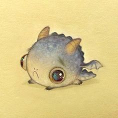 Look At This Cute Sad Dragon! Genuinely Contemplating This As A Tattoo