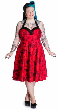 The Vanessa 50's Dress from is the perfect mixture of sexy and sweet! #blamebetty #rockabilly #rockabella #swingdress #gorgeous
