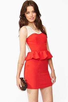 Poppy Peplum Dress