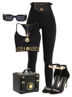 """""""Untitled #1695"""" by styledbyjovonxo ❤ liked on Polyvore featuring Versace"""