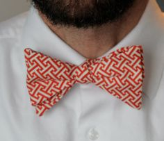 Mens Bow Tie in Red Greek Key  Valentines by DivineDomestication, $32.00