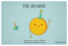 ¡Feliz año Nuevo! Vamos por otros 930 millones de kilómetros alrededor del sol. | Por Molasaber [Sistema Solar - Ilustración - Planetas]