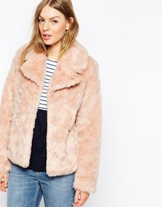 $86, Pink Fur Jacket: Oasis Faux Fur Coat. Sold by Asos. Click for more info: http://lookastic.com/women/shop_items/175848/redirect