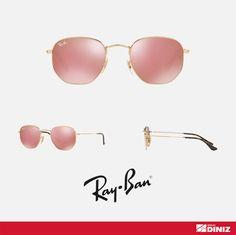 Ray Ban Hexagonal Pink