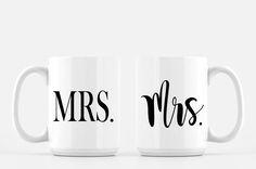 Lesbian Wedding Gift,  Lesbian Engagement, Wedding Gift Lesbian Couple, Gay Coffee Mug, Gay Wedding Gift, Lesbian Marriage Gift, Gay Couple by CynthiaCraftBoutique on Etsy