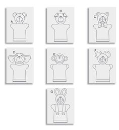 Kids' Hand Puppets by Butterick Marionnettes à main: Le forfait comprend les modèles et les instructions pour faire...