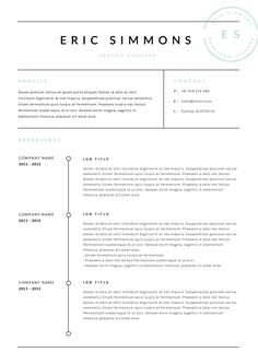 We Produce High Quality Creative Templates That May Help You Land Your Dream Job Best Resume