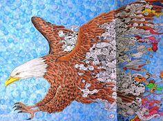 WIP from Animorphia #animorphia #kerbyrosanes #doodlemorphia #colouringforadults…