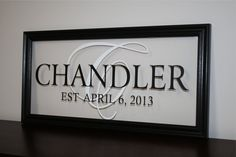 Personalized Family Name Sign Picture Frame by wallartsy on Etsy, $49.00