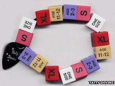 Tatty Devine bracelet made from the size cubes from coat-hangers