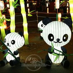 Festival Decoration Panda Lamp