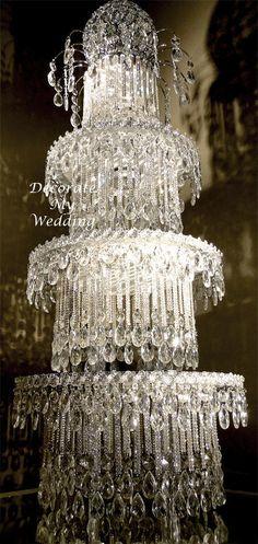 Crystal Wedding 'Cake' Centerpiece