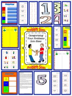 Activities To Categorize Your Problems Into Sizes To Help Manage Them. Therapy Activities, Classroom Activities, Learning Activities, Classroom Ideas, Peace Education, Primary Education, Special Education, Creative Teaching, Teaching Tips