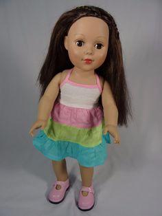 "Madame Alexander 18"" Doll Brown Hair Brown Eyes Favorite Friends #DollswithClothingAccessories"