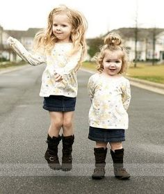 mini sis (though i will not dress them the same!)