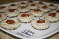 Paleo - Cashew Cheesecake Minis (Raw)...recipe is almost to the bottom of the page...waiting to try these until I pick up a silicon mini-tart pan