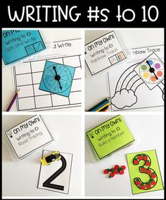 On My Own! {Mini Math Activities for Kindergarten - Set 1} | If you're on the lookout for a great download where your Kindergarten students can work independently on various math skills, you're love this! You get 16 mini math activities. They're great for independent math centers or stations, math groups, partner work, early or fast finishers, morning work, and more. These are NOT thematic and can be used at any time. You get numbers to 10, numbers 11-20, writing numbers to 10, & more!