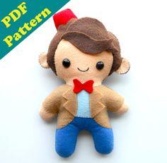 PDF PATTERN  9 Human Plush Matt Smith Doctor Who by michellecoffee
