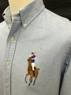 Polo #RalphLauren #Mens  Big Pony #Shirt Medium Custom Fit Plain Blue #Oxford #menswear #mensfashion #mensstyle