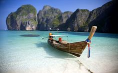 Phi Phi Leh, Thailand Maya Bay can get a bit crowded these days with tourist boats whipping down from Phuket, but if you get there early in the morning or stay long enough to let the boats leave, chances are you will have the place to yourself. Phuket Thailand, Thailand Honeymoon, Thailand Travel, Dream Vacations, Vacation Spots, Vacation Packages, Vacation Travel, Summer Travel, Holiday Travel