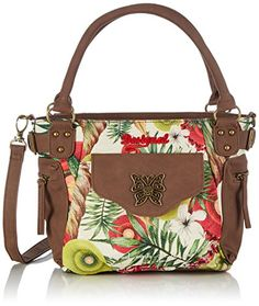 Women's Cross-Body Handbags - Desigual Mini Mcbee Hawai Woman Woven Cross Body Bag Green One Size -- Read more reviews of the product by visiting the link on the image.