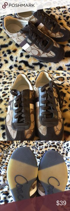Coach Sneakers Brown gently used Coach sneakers in good condition and clean. Coach Shoes Sneakers