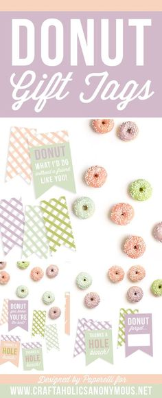 Craftaholics Anonymous® | Free Printable Donut Gift Tags