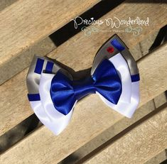 Blue Droid Hair Bow by PreciousWonderland on Etsy