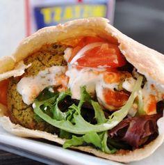 healthy baked falafel