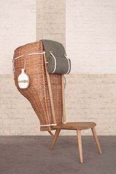 The low chair 'Domestica' is an investigation by Studio Formafantasma of rural craft and its archetypes.