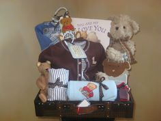 These themed baby gift baskets are unique one of a kind gifts for these themed baby gift baskets are unique one of a kind gifts for that special mom and newborn they make great gifts for the holidays and negle Gallery