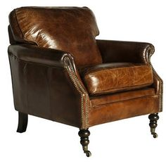 Darcy Vintage Leather Club Chair L Distressed Leather Chair L Vinatge  AU$1750